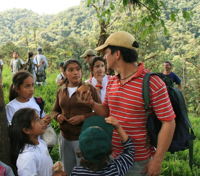 School children forest visit