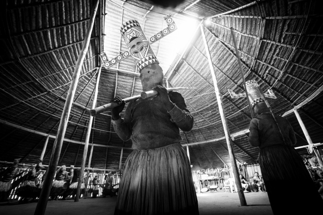 An indigenous ceremony for the spirits of wwater and the guardians of seeds. By Gaia Amazonas
