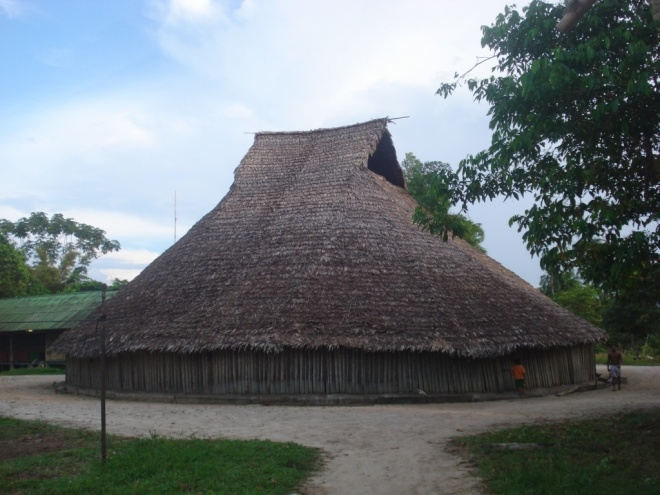 "A ""Maloca"", an ancestral long house"