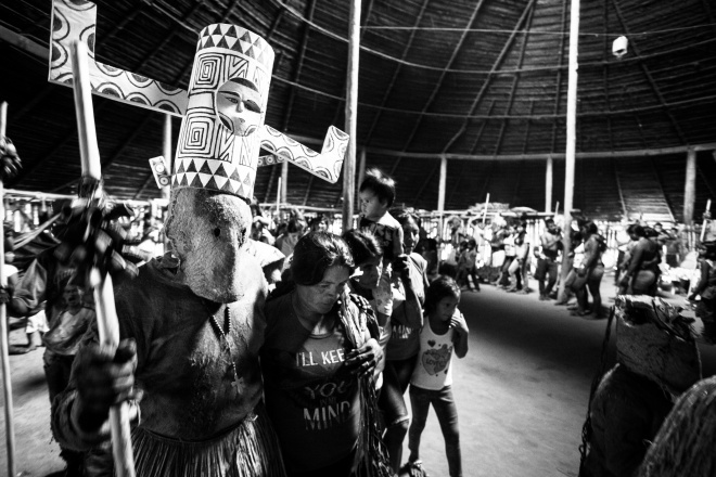 An indigenous ceremony for the spirits of water and the guardians of seeds